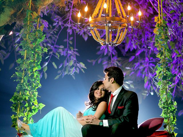 Garden night Prewedding Photoshoot