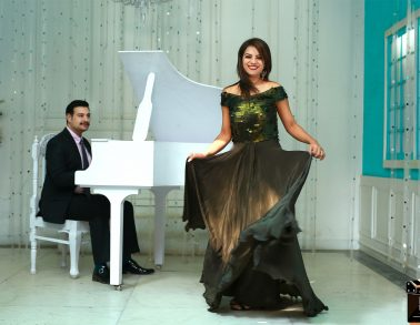 Couple prewedding piano photoshoot